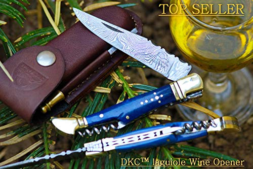 DKC Knives  DKC-783 Ocean Laguiole Damascus Steel Folding Po
