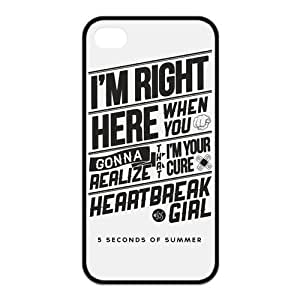 fashion case Custom Design 5 Seconds of Summer 5sos TPU Snap On Cover Case For iphone 5 5s [ 5 sos ]