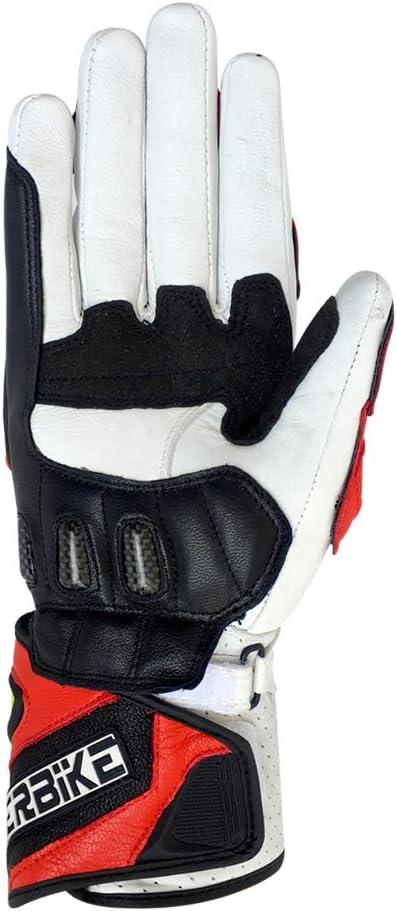 G07-Black, Medium Full finger Carbon Fiber Motorcycle Gloves for Men GP-PRO Genuine Leather Motor Racing Gloves