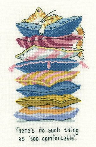 Heritage Crafts Too Comfortable Cross Stitch Kit