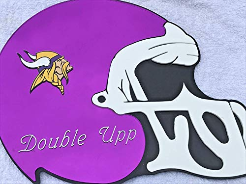 - Minnesota Vikings NFL Football Helmet Wall Decor Wall Hanging Personalized Free Engraved Mirror Sign NFL Sports Memorabilia - with Your Name On It!