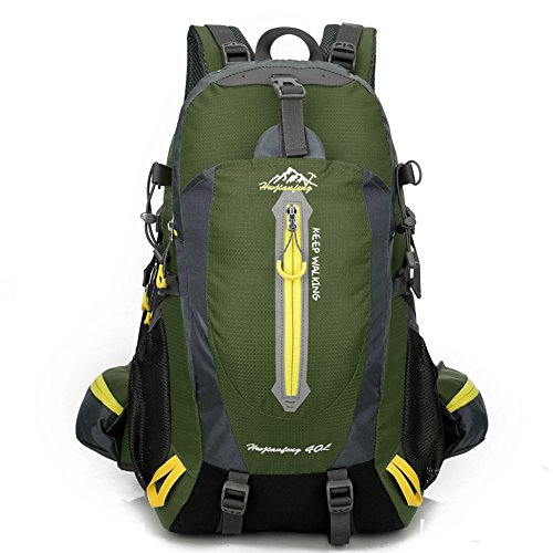 Mytree 40L Water-resistant Hiking Daypack/Camping Backpck/Travel Daypack/Casual Backpack for Outdoor Climbing School 1346 Dark Green