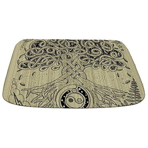 (CafePress Circle Celtic Tree of Life Ink Decorative Bathmat, Memory Foam Bath Rug)