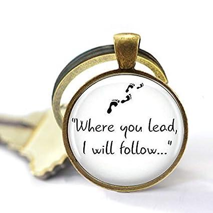 Amazon.com: Gilmore Girls Where You Lead. Llavero, colgante ...