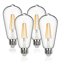 Every light has its life. We focus on making the bulb both a money-saving helper and member of your familyThe dimmable led edison bulbs are the perfect combination of traditional art and modern technology. It is made of clear glass and durabl...
