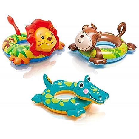 Partner - Flotador cabeza Animal - Juego d agua y de playa - Intex modelo - Mono: Amazon.es: Juguetes y juegos