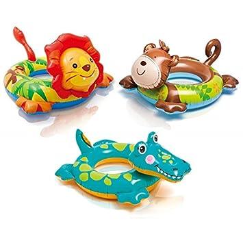 Partner - Flotador cabeza Animal - Juego d agua y de playa - Intex modelo - Cocodrilo: Amazon.es: Juguetes y juegos