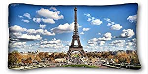 Eiffel Romantic Country Tower Paris Zippered Pillow Case 16x24 (Twin sides)