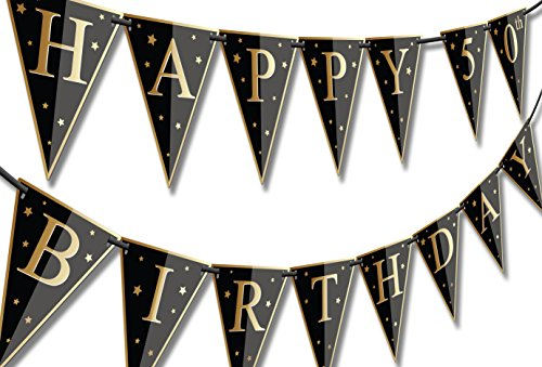 Papery Pop Happy Birthday Banner - Customizable for