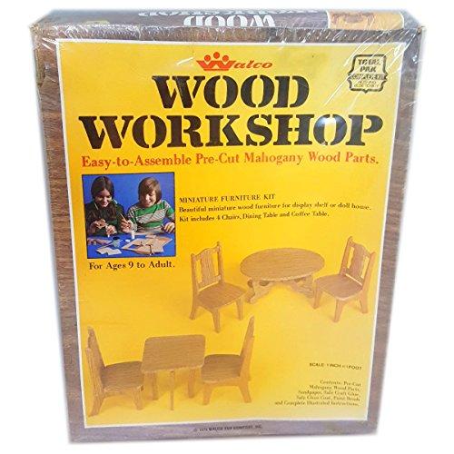 Vintage 1975 Walco Wood Workshop Miniature Dollhouse Furniture Kit No 1711 (Vintage Doll Wood)