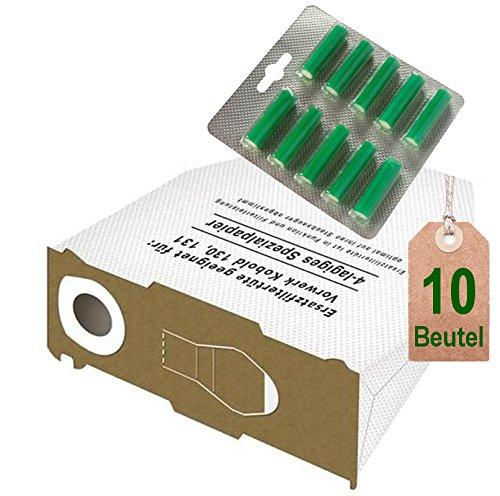 Kobold VK 131/y 131/SC 10/bolsas de aspiradora bolsas blancas y aroma verde bosque para Vorwerk Kobold VK 130