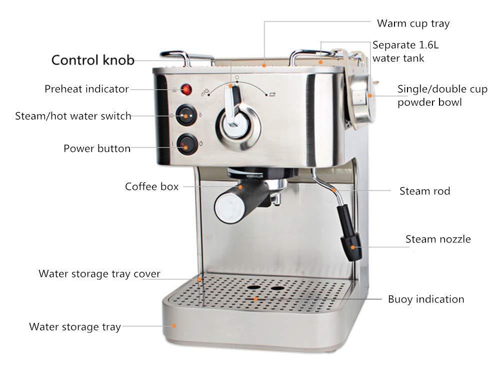 Semiautomático italiano 19 Bar Cappuccino Espresso Coffee Maker ...
