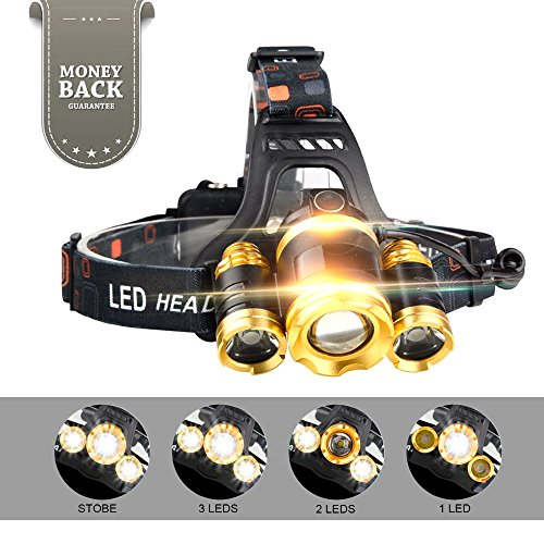 Led 4 Mode Headlamp Light Torch Camping Flashlight - 5