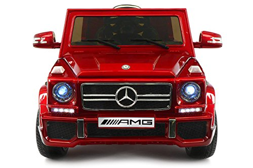 - 2019 Mercedes G Wagon Holiday Ride On Car - Large Capacity 12V Power Battery Licensed Kid Car to Drive | 3 Speeds, Leather Seat, LED Lights