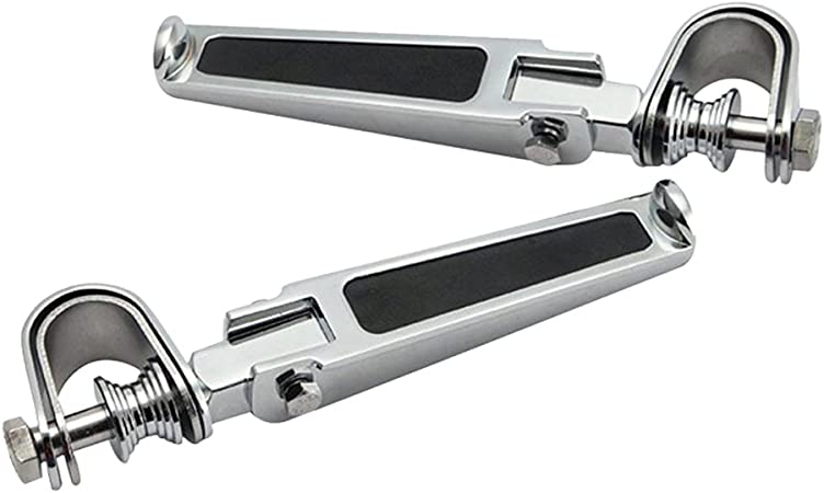 Baoblaze Paio Pedane Poggiapiedi Posteriore Alluminio Argento Universale Per Honda Suzuki