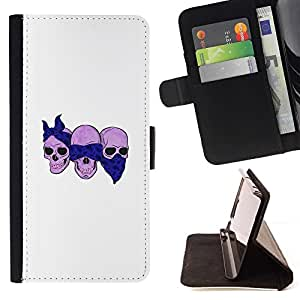 - Scarf Bikers Motorcycle Death Skull/ Personalized Design Custom Style PU Leather Case Wallet Flip Stand - Cao - For LG Volt 2 / LG G4 Mini (G4c)