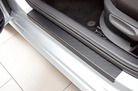 Unbekannt Einstiegsleisten Set Carbon Style Schutzfolie Schwarz Auto