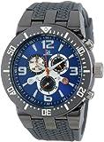 Joshua & Sons Men's JS55GY Swiss Chronograph Grey Sport Strap Watch