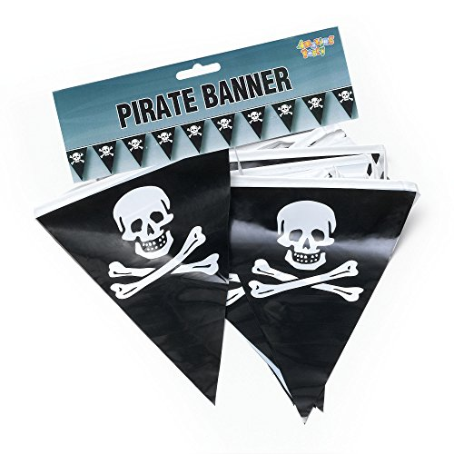 - Bristol Novelty PG082 Pirate Bunting, Black/White, One Size