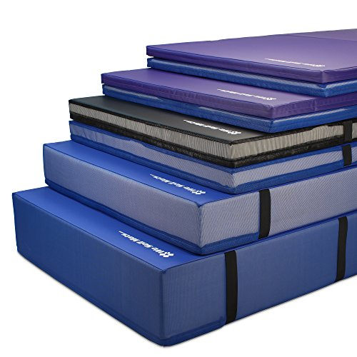 We Sell Mats Black 4'X8'X4 Thick Bi-Folding Crash Landing Mat Pad