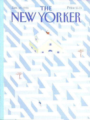 New Yorker cover Young snowdrift maze 1/28 1991