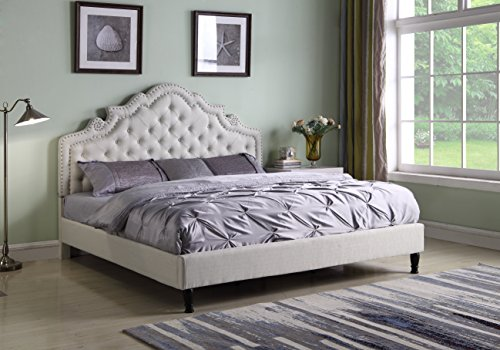 LIFE Home Bed 0023, Queen, Light Beige (Bedroom Clearance Set)