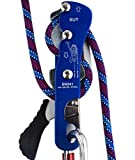 Newdoar Climbing Stop Descender Rappelling Belay for Ropes 9-12mm Rope Rescue Equipment Hand Controls Designed for the Novices CE Certification