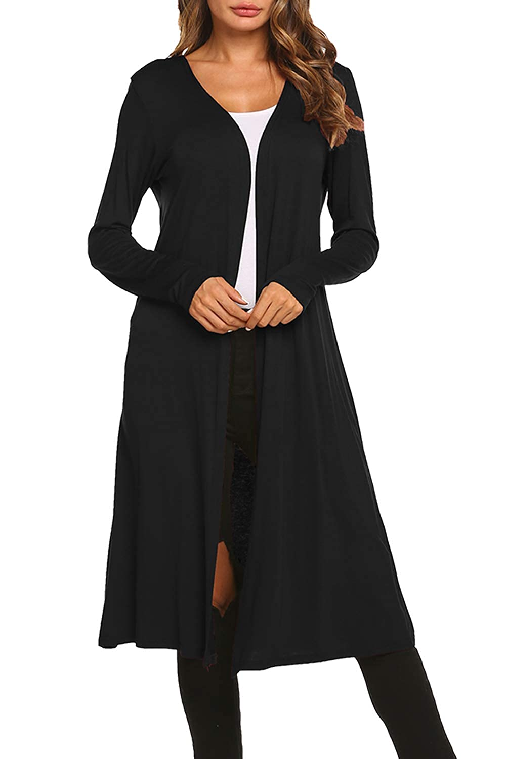 0323f85206 BLUETIME Women Plus Size Long Open Front Drape Maxi Cardigan Lightweight  Duster Long Sleeve Cardigan (S-4XL) at Amazon Women's Clothing store: