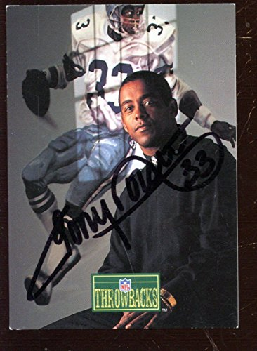 1992 Pro Line Portrait Football Card Tony Dorsett Autographed Hologram -