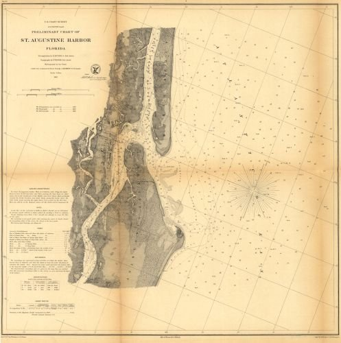 Map of Preliminary chart of St. Augustine harbor, Florida Florida|Saint Augustine|Florida|Saint Augustine|Florida|Harbors|Saint - Shopping Map St Augustine