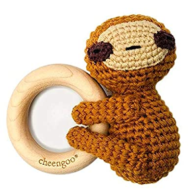 Cheengoo All Natural Baby Toy - LittleCuddler Sloth Rattle: Toys & Games