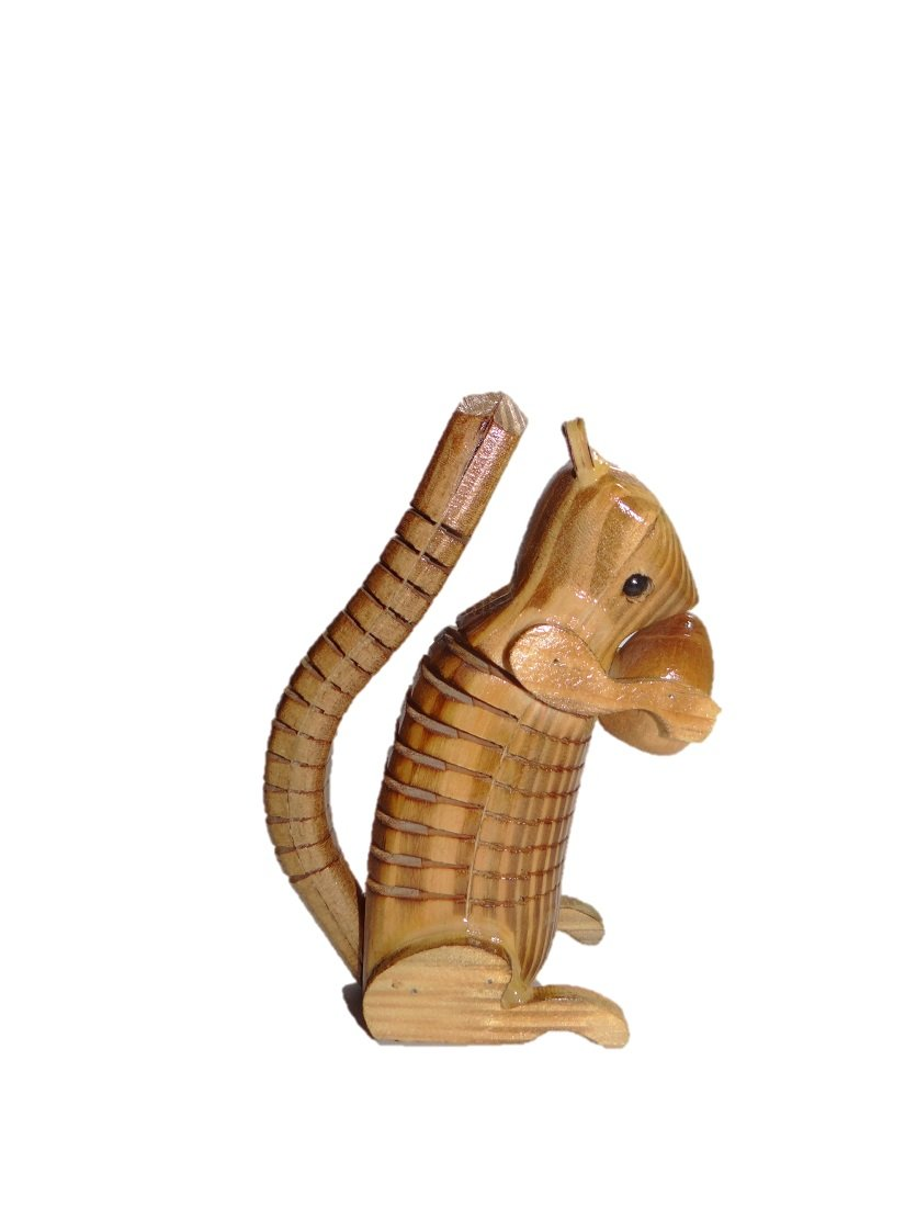 URC Online Wooden Squirrel, Ashake Squirrel Shape Toys, Assembling Toys, Wooden Squirrel, Wooden Animal Squirrel, Yellow Color Size 6 X 3 Inch by URC Online (Image #1)