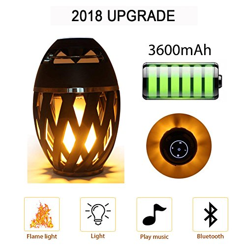 Jeantan Night Light Bluetooth Speaker with LED Atmosphere, IP65 Water Resistance, Table Lamp with HD Audio Nonstop 13 Hours Portable Speaker, LED Outdoor Speaker Light Music Player Birthday Gifts