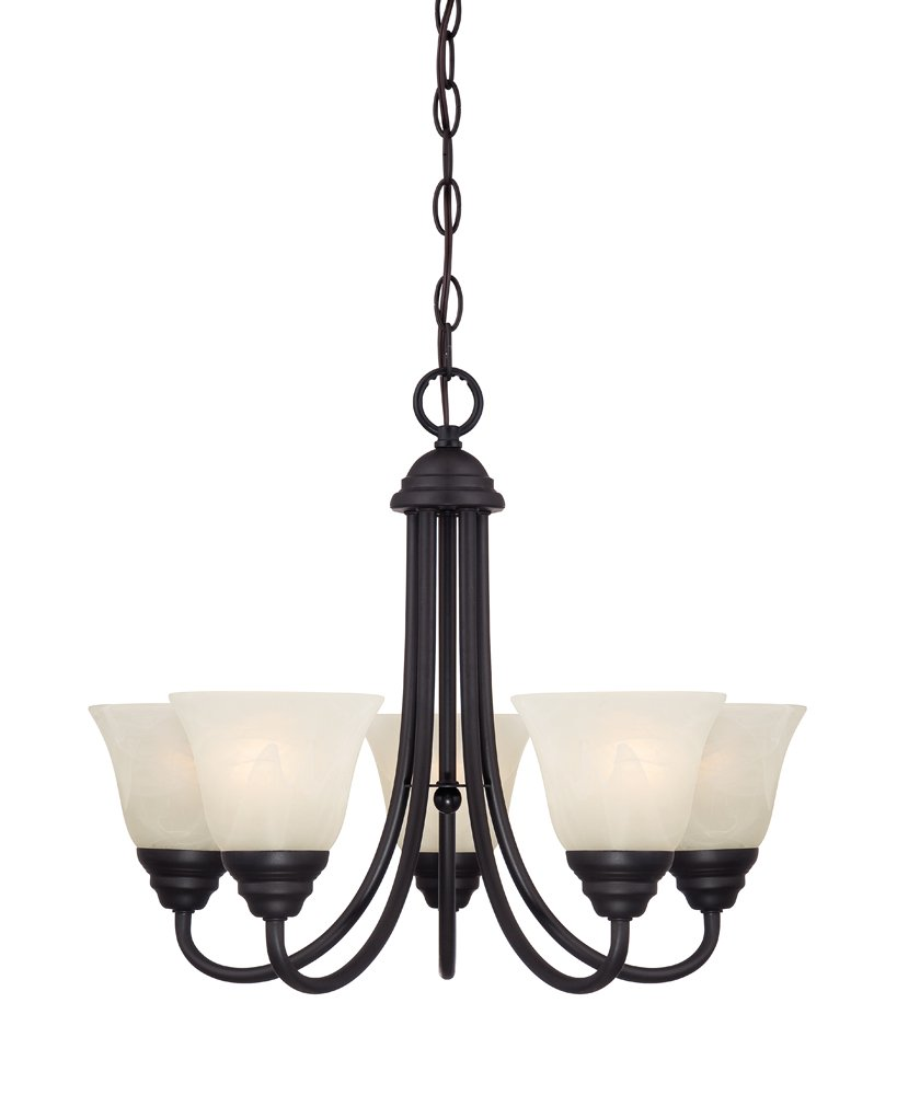 Designers Fountain 85185-ORB Kendall 5 Light Chandelier, Oil Rubbed Bronze
