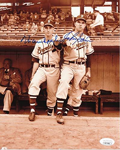 (Warren Spahn & Johnny Sain Atlanta Braves Dual-Signed 8x10 B/W Photo JSA 144636)
