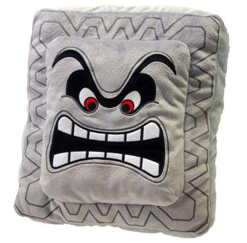 Super Mario Plush Thwomp Cushion