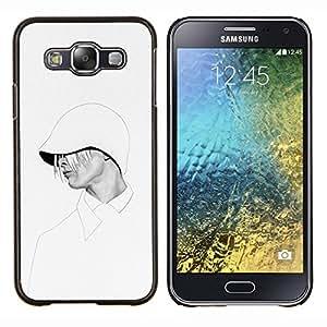 YiPhone /// Prima de resorte delgada de la cubierta del caso de Shell Armor - Mujer sudadera con capucha elegante de la moda blanco - Samsung Galaxy E5 E500