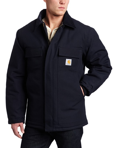 Carhartt Men's Arctic Quilt Lined Duck Traditional Coat C003,Dark - Lined Coat Quilt Arctic