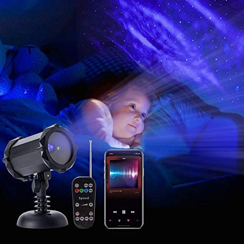 WOLFWILL Christmas Projector Bluetooth Speaker product image