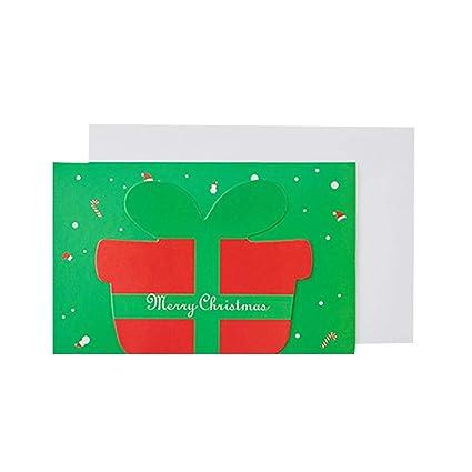 Outflower 12pcs Tarjeta de Felicitación Dibujo con Santa ...