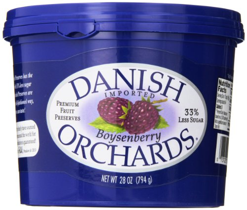 Danish Orchards Preserves, Boysenberry, 28 Ounce (Pack of - Old Orchard Brands