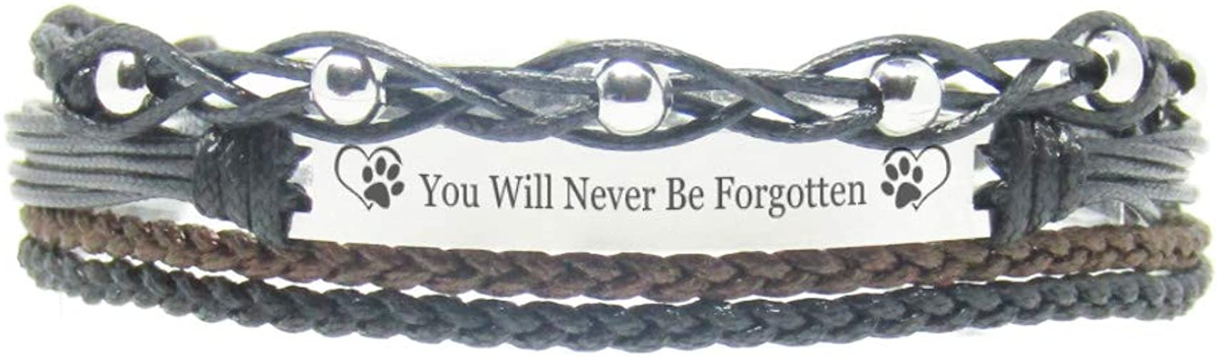 Memorial Jewelry Purple FL- A Sweet Memorial Gift for Women I Believe in Angel Because of You My Grandmother Miiras Remembrance Bracelet
