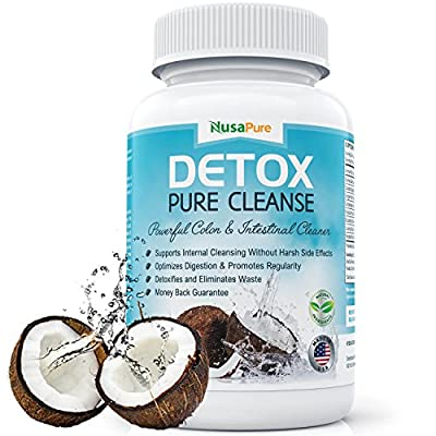 NusaPure Detox Pure Cleanse: Colon Cleanse for Weight Loss: For Digestive System and Colon Health: 90 Capsules