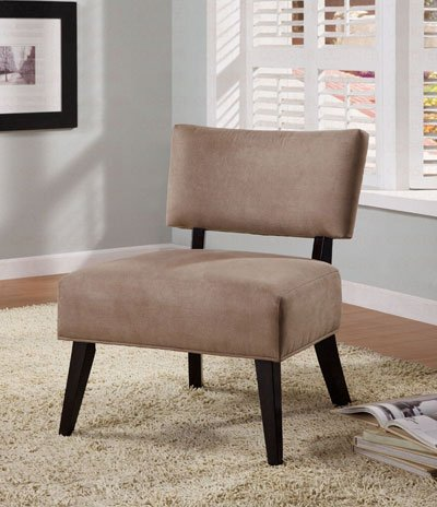 Oversized Accent Chair in Light Brown Microfiber by Coaster Furniture