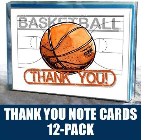 Baloncesto gracias tarjetas de Nota (4,25
