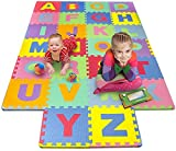 Toys : Matney Foam Mat of Alphabet Puzzle Pieces– Great for Kids to Learn and Play – Interlocking Puzzle Pieces