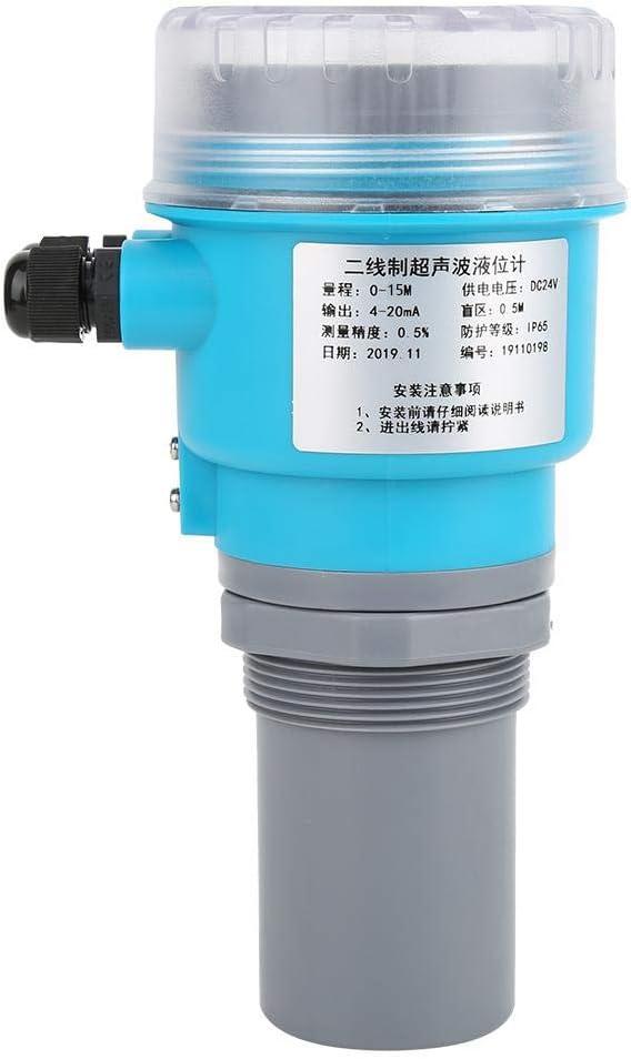 Digital Ultrasonic Level Meter, LED Display Integrated LED Level Meter, for Water Treatment Coal slurry Pool Mining Mortar Pool Electricity(0-15 Meters) 0-15 Meters