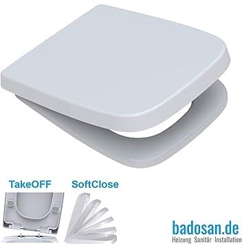 Sehr WC-Sitz mit Absenkautomatik Softclose eckig | passend für Keramag QI29