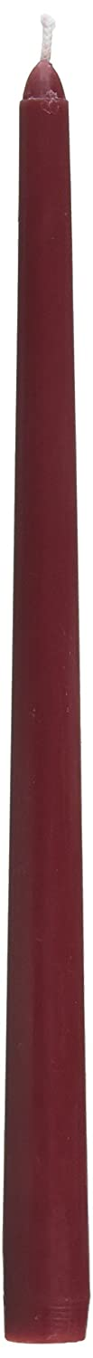 Zest Candle 12-Piece Taper Candles, 12-Inch, Burgundy CEZ-073