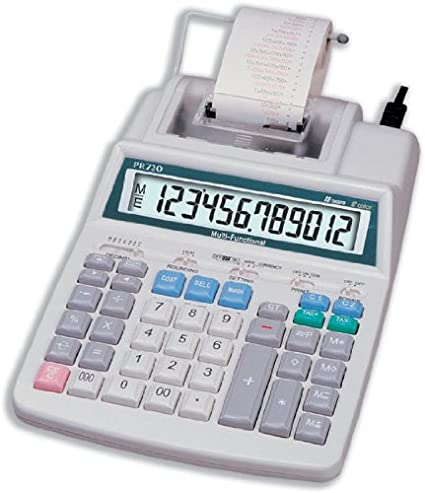 Aurora PR720 - Calculadora impresora color blanco: Amazon.es ...